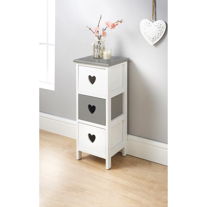 Chloe 3 Drawer Chest Storage Furniture Bm