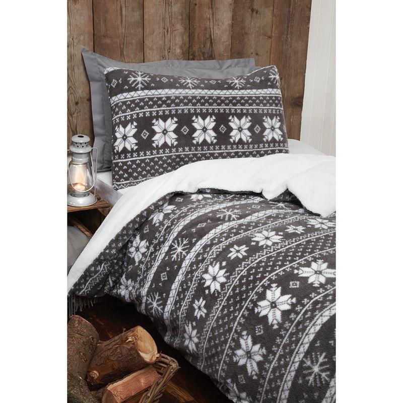 Silentnight Teddy Nordic Sherpa Single Duvet Set Bedding