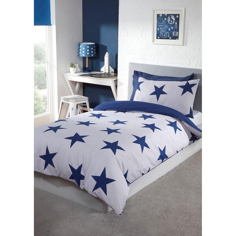 Stars Single Bedding Twin Pack Blue Bedding B Amp M
