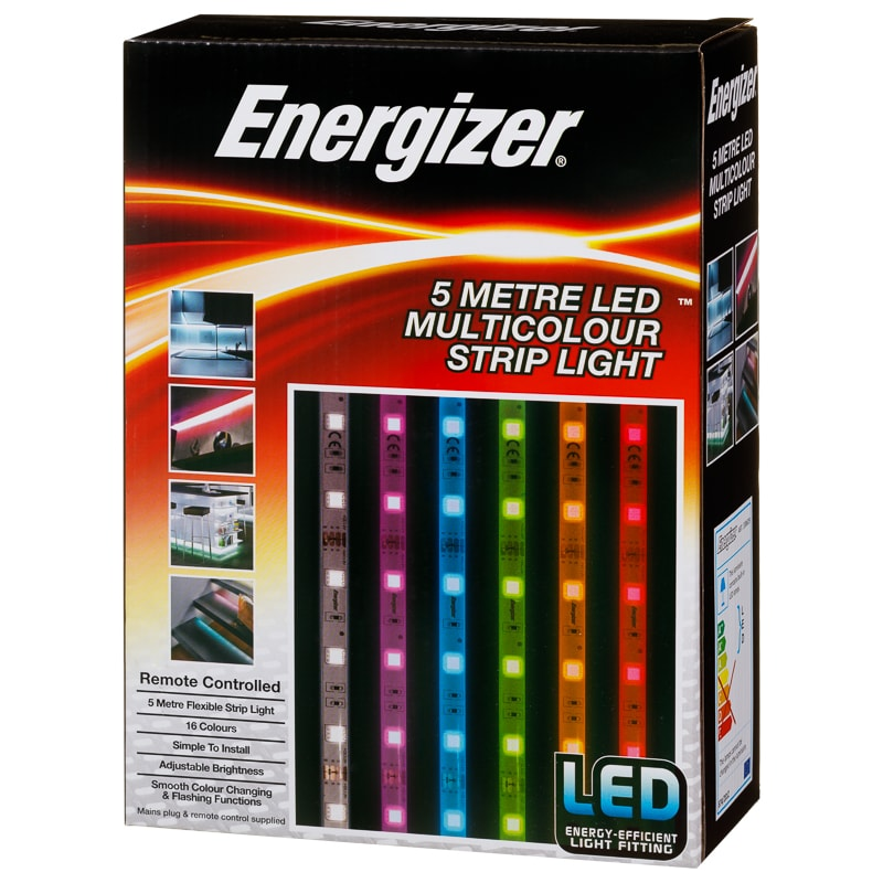 Energizer Colour Changing Led Strip Light 5m Lighting Bm