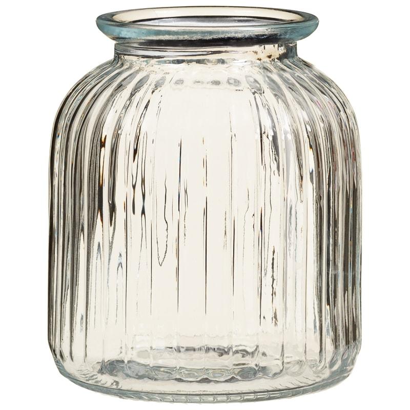 Coca Cola Gifts >> Large Ribbed Glass Jar | Kitchen Storage - B&M