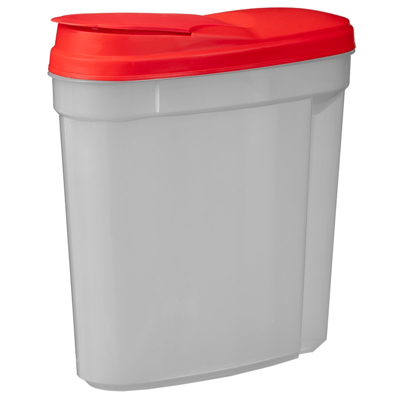 Plastic Containers with Flip Top Lid 2pk - Red