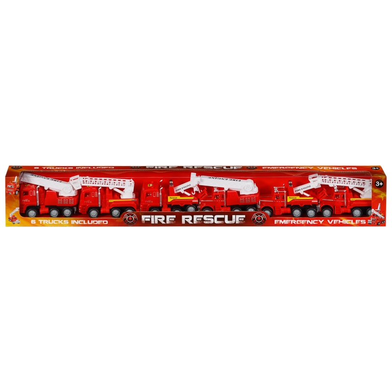 Fire & Rescue Trucks 6pk
