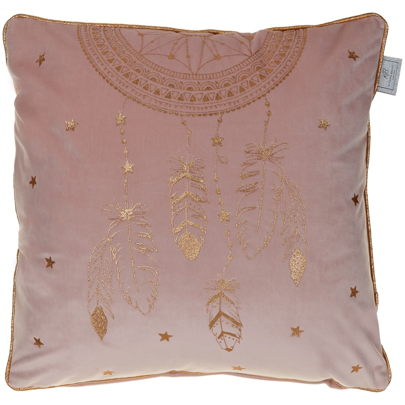 Glitter Dream Catcher Cushion - Blush