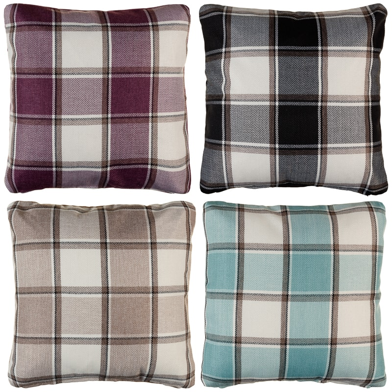 Tartan Cushion Covers 2pk Duck Egg Cushions B Amp M