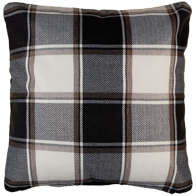 Tartan Cushion Covers 2pk - Mono