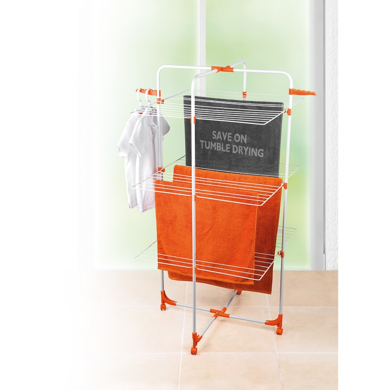 Beldray 27m 3 Tier Airer With Wheels Laundry B Amp M