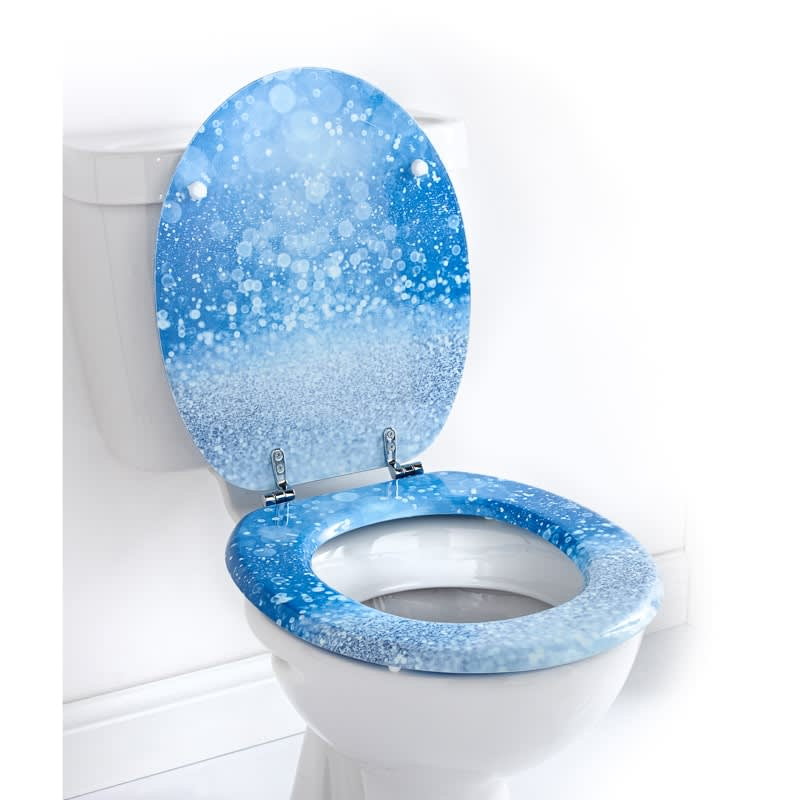 Terrific Baby Blue Toilet Seat Printed Toilet Seat Blue Glitter Gamerscity Chair Design For Home Gamerscityorg