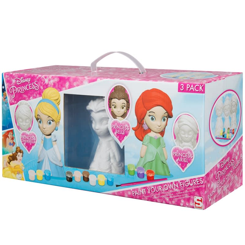 Disney Princess Paint Your Own Figures 3pk