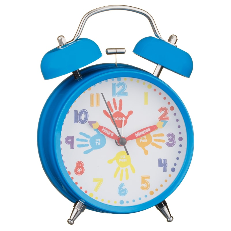 Learn to Tell the Time Alarm Clock - Blue