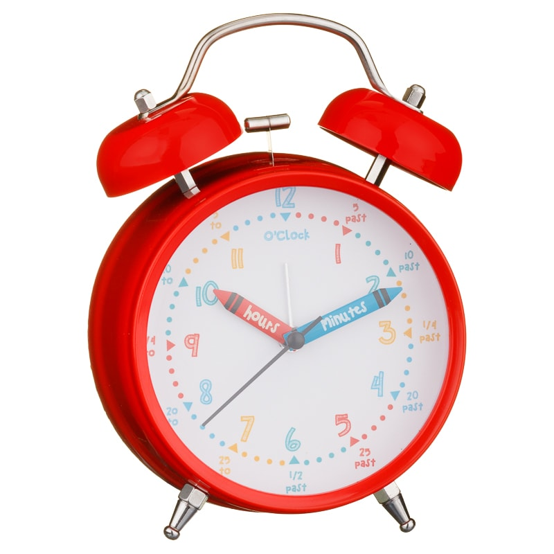 Learn to Tell the Time Alarm Clock - Red