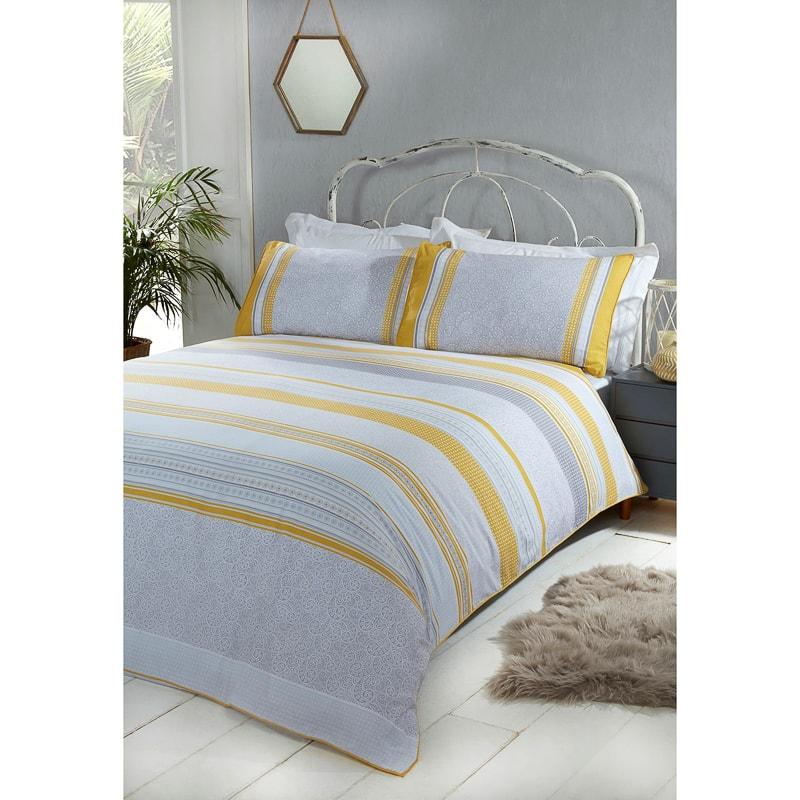 Cuba Ochre Double Duvet Set Home Bedding B Amp M