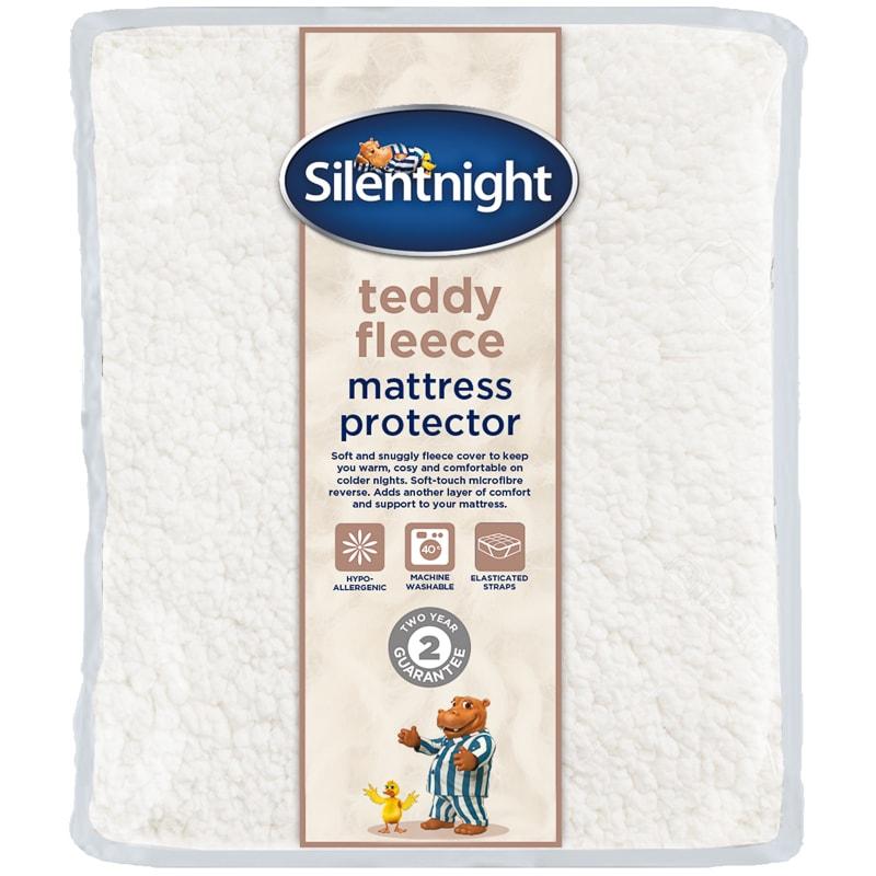 Silentnight Teddy Fleece Mattress Protector Single Bedding Bm