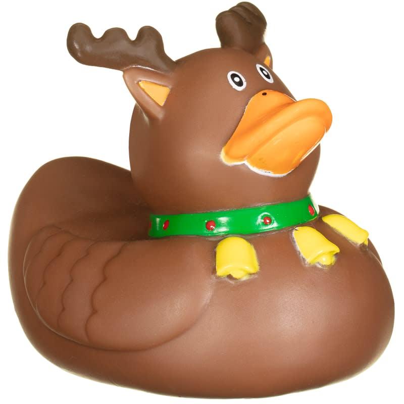 Vinyl Christmas Novelty Rubber Duck - Reindeer   Pets - B&M