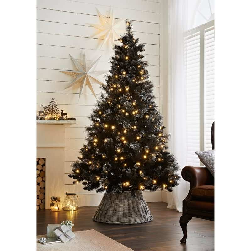 pre lit hudson black christmas tree 7ft christmas trees b m
