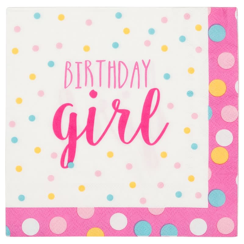 Kids Party Napkins 30pk - Birthday Girl