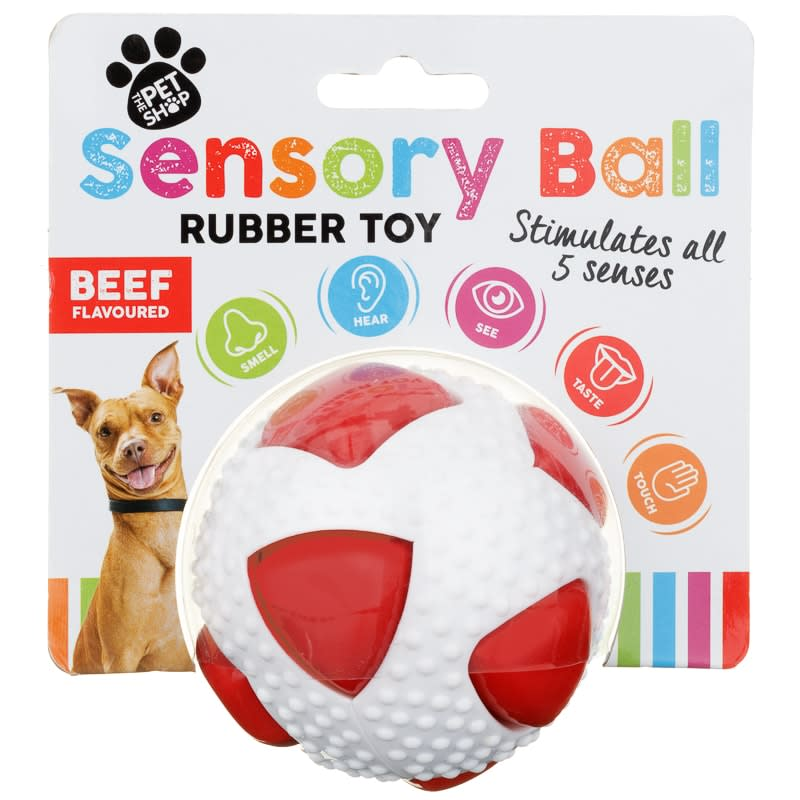 The Pet Shop Sensory Ball Rubber Toy Red Dog Toys B Amp M