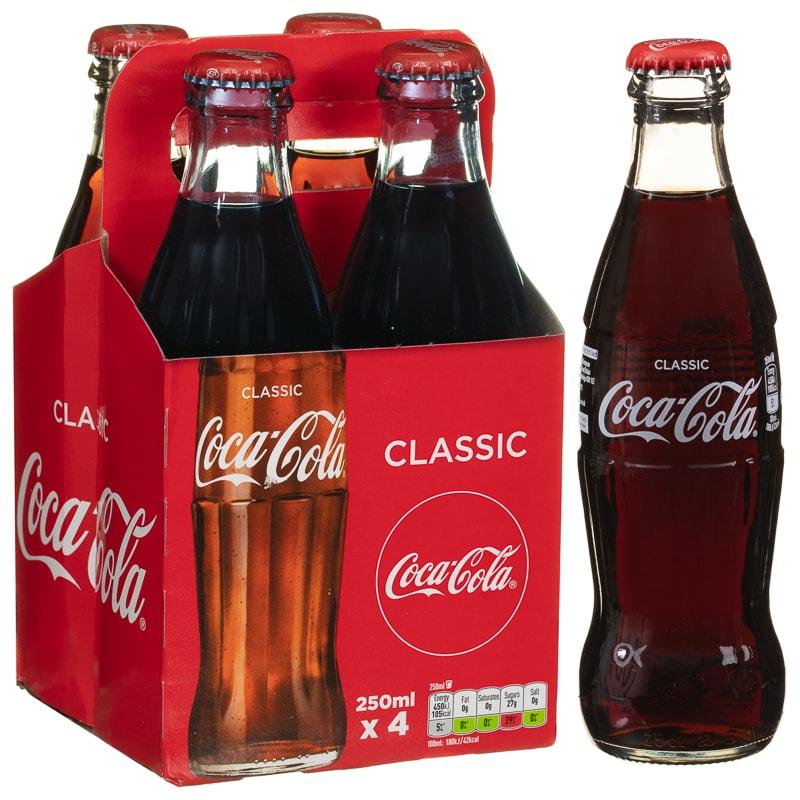 Coca-Cola Classic 4 x 250ml