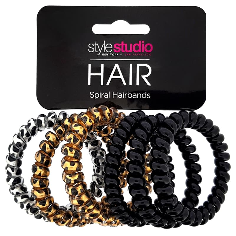 Style Studio Spiral Hair Bands 6pk