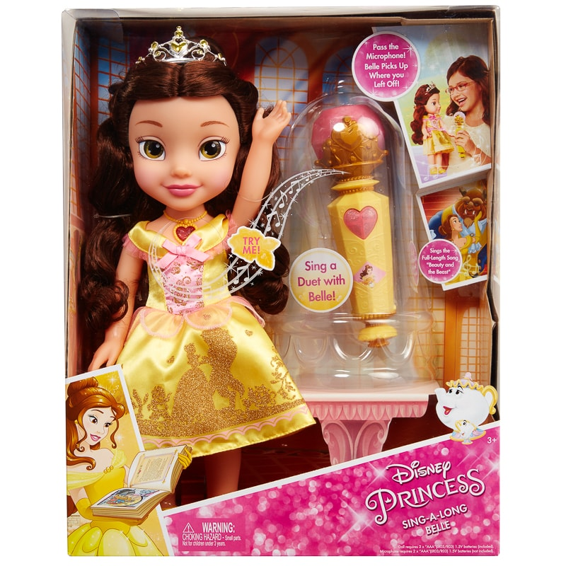 Amazon Com Disney Princess Baby Belle Doll Toys Games: Disney Princess Sing-a-long Belle Doll