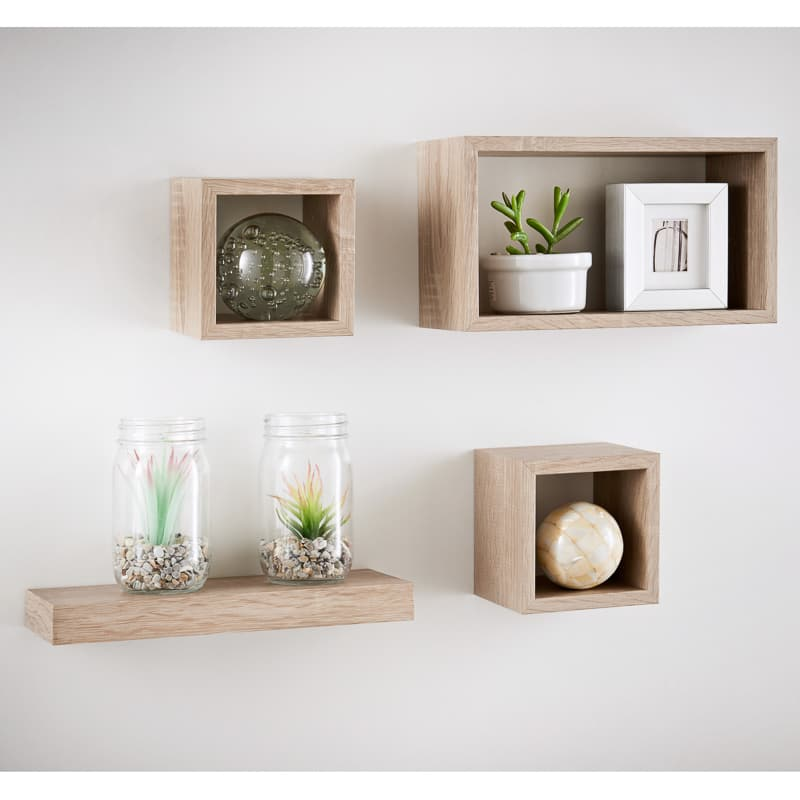uk availability cb81d f386d Lokken Set of 4 Shelves - Oak Finish