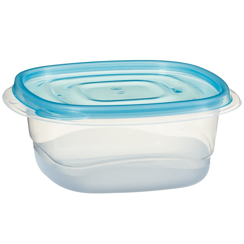 Plastic Square Food Containers 4pk - Blue