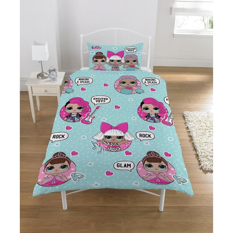 L O L Surprise Kids Duvet Set Glam Rock Bedding B Amp M
