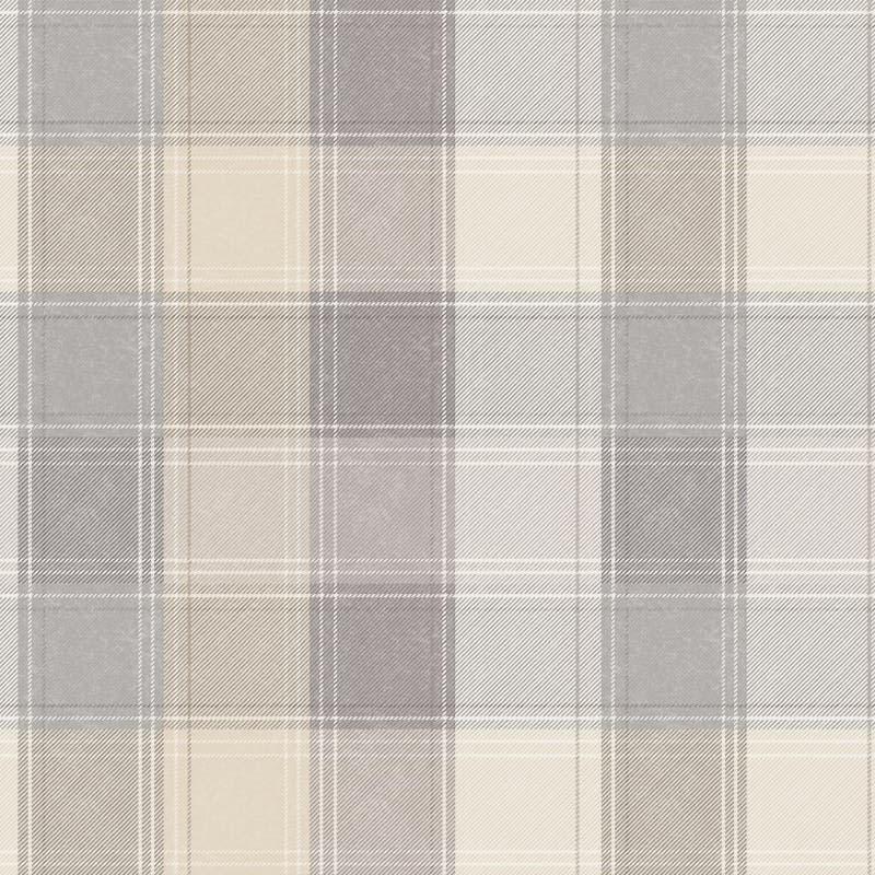 Country Check Wallpaper - Grey