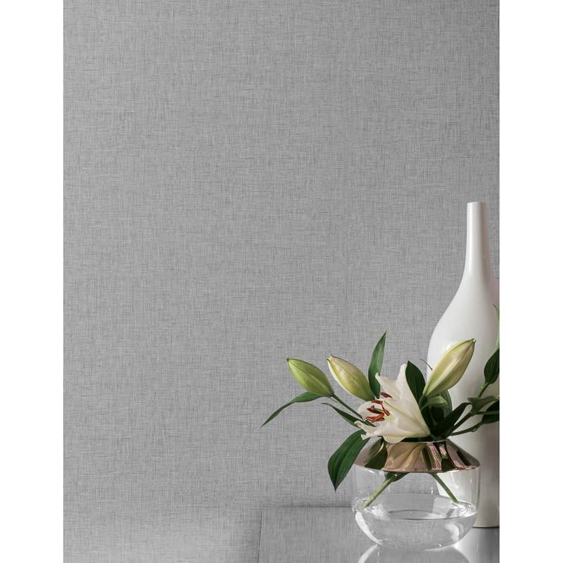 Linen Wallpaper Mid Grey
