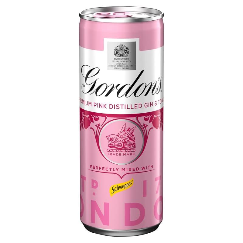 Gordon S Pink Gin Amp Tonic 250ml Alcohol B Amp M