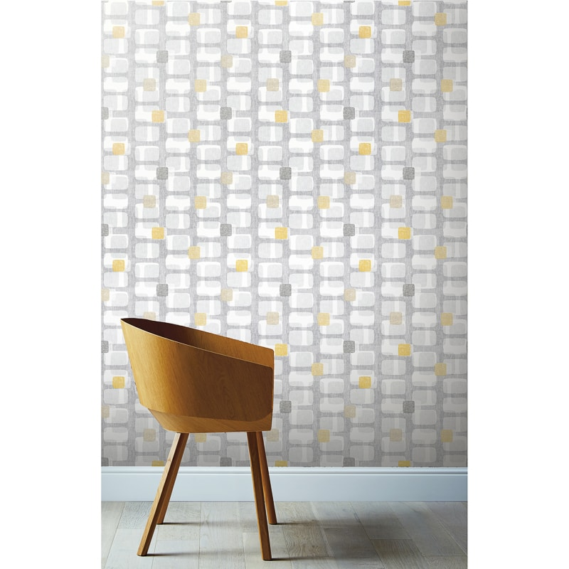 Bedroom Wallpaper Ochre