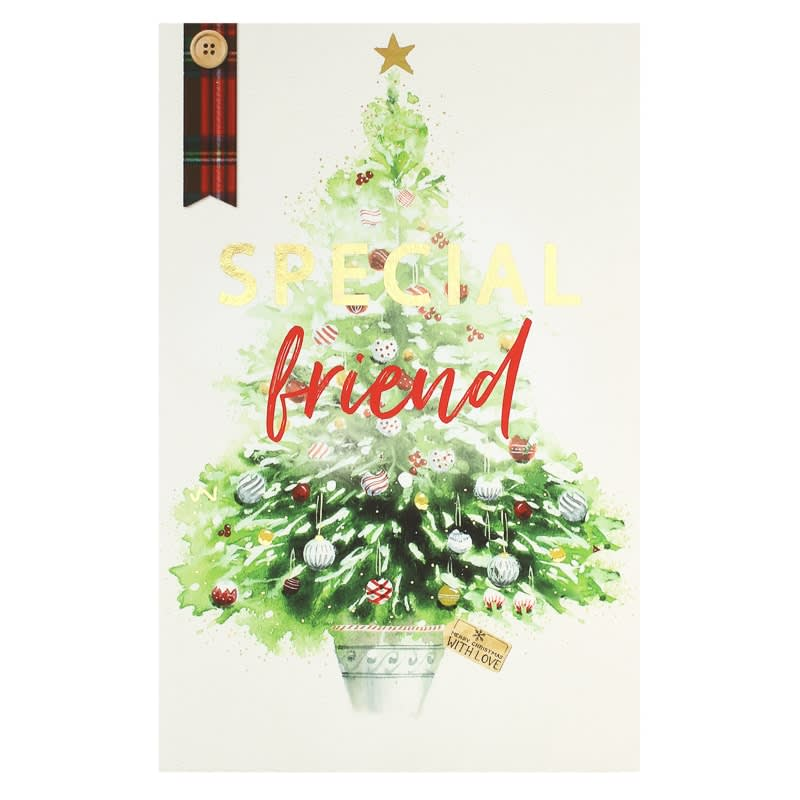 Special friend christmas card greetings cards bm 341311 special friend trad tree christmas card m4hsunfo