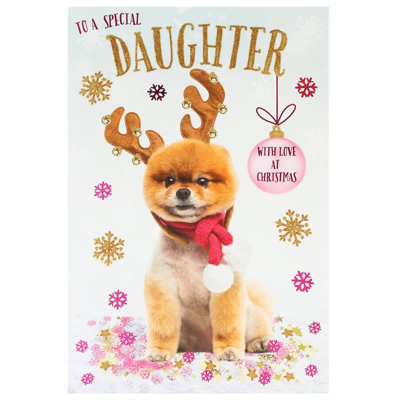 Special Daughter Christmas Card Greeting Cards B M