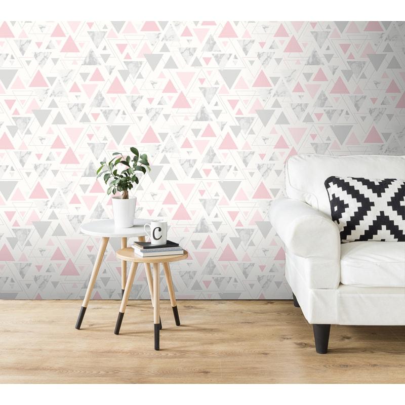 Chantilly Wallpaper - Pink & Grey