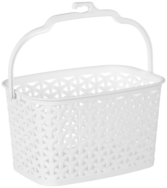 Multi-Purpose Hanging Storage Basket - White