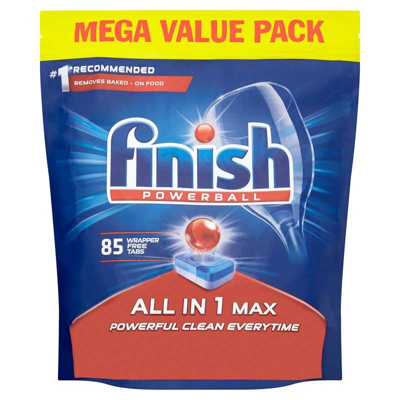 Finish Powerball All In 1 Max 85pk Dishwasher Products B Amp M