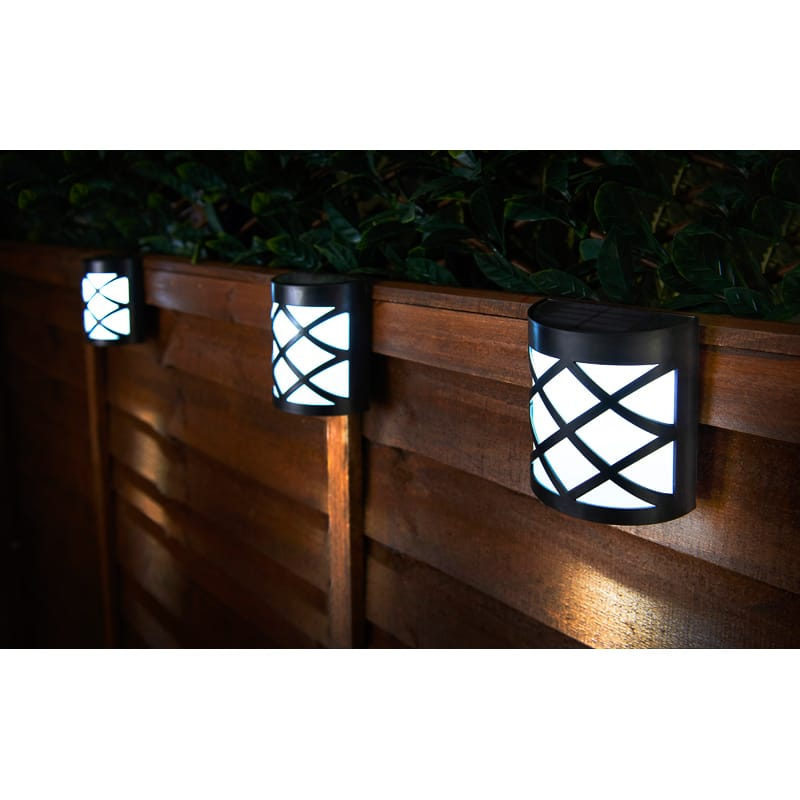 Criss Cross Solar Wall Lights 4pk Garden Lighting B Amp M