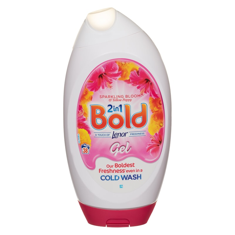 Bold 2-in-1 Touch of Lenor Gel 1.3L - Sparkling Bloom & Yellow Poppy