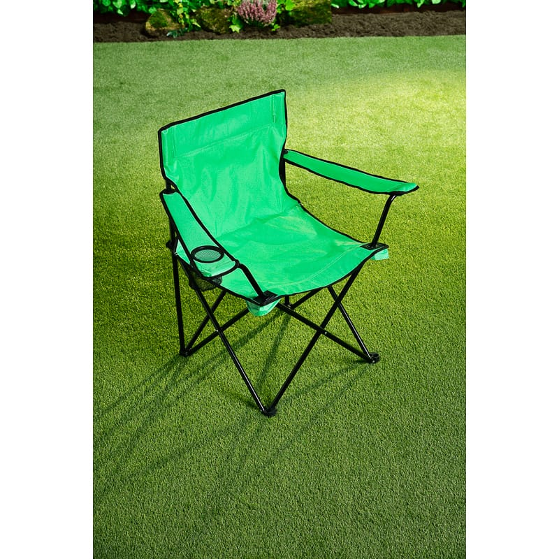 Folding Camping Chair With Cup Holder Green Camping B Amp M