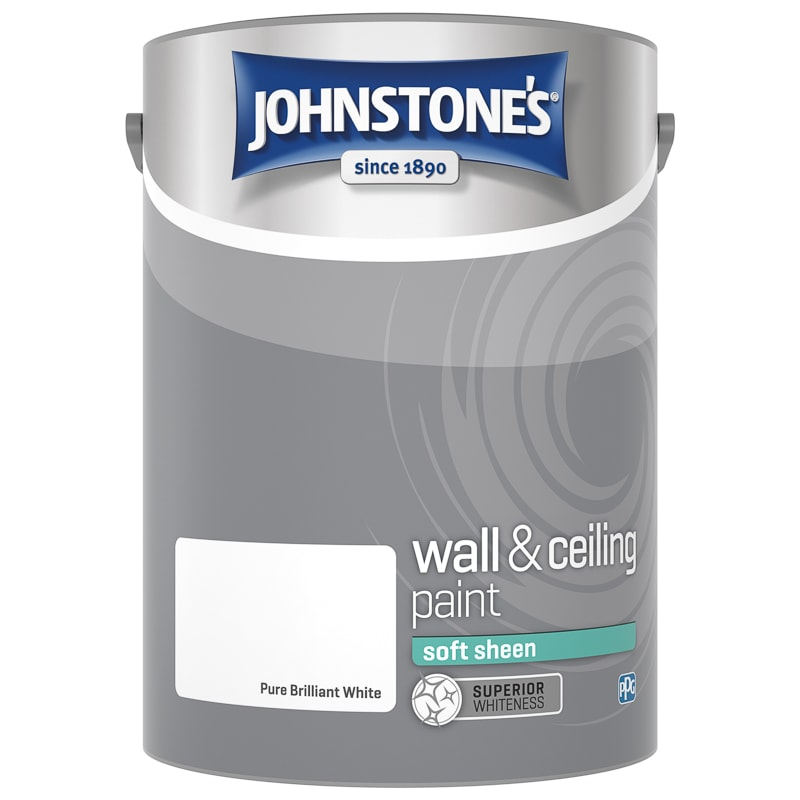 Johnstone's Soft Sheen Paint 5L - Brilliant White
