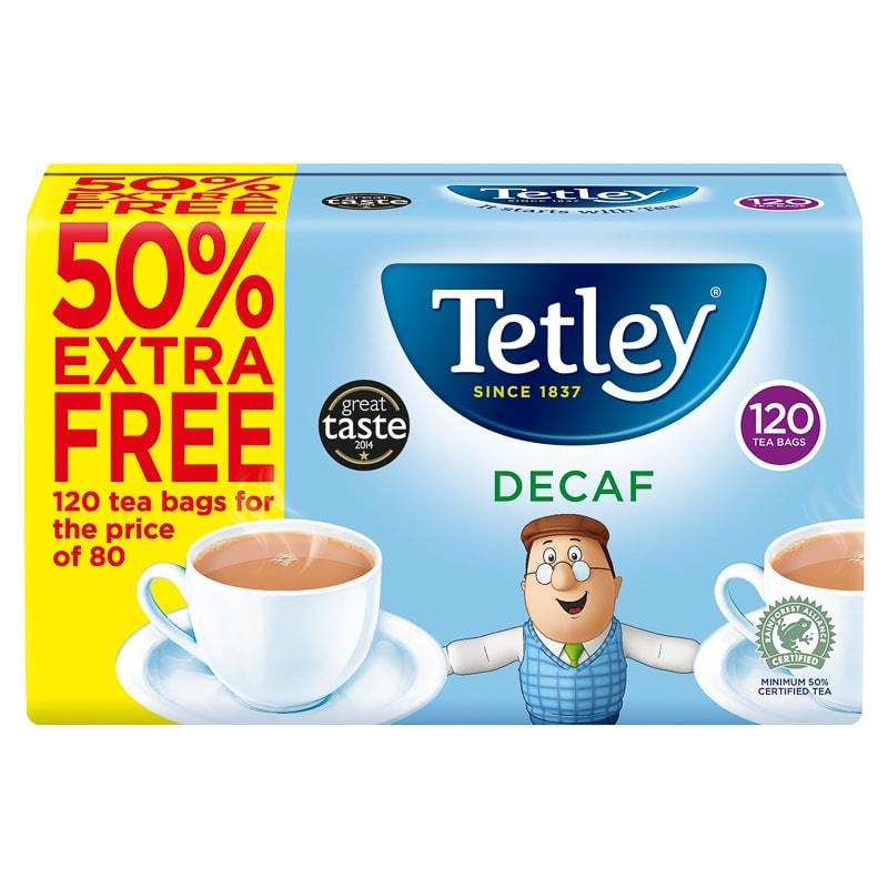 Tetley Decaf Tea Bags 120pk Tea Coffee Amp Hot Drinks B Amp M