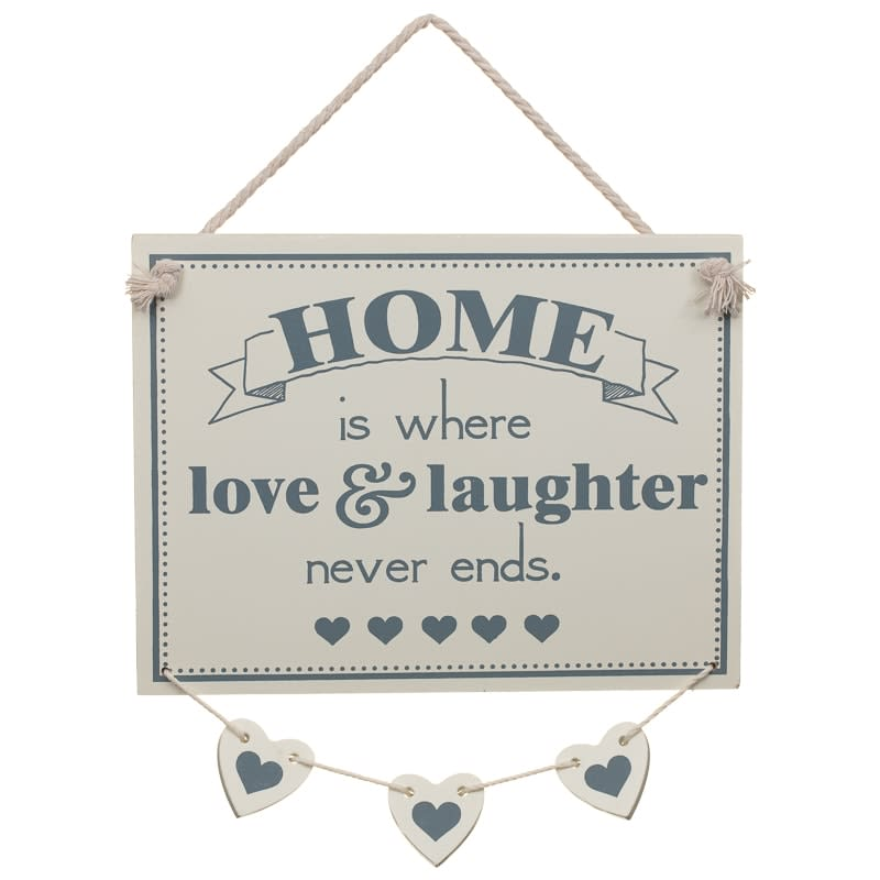 Hanging Hearts Plaque - Love & Laughter