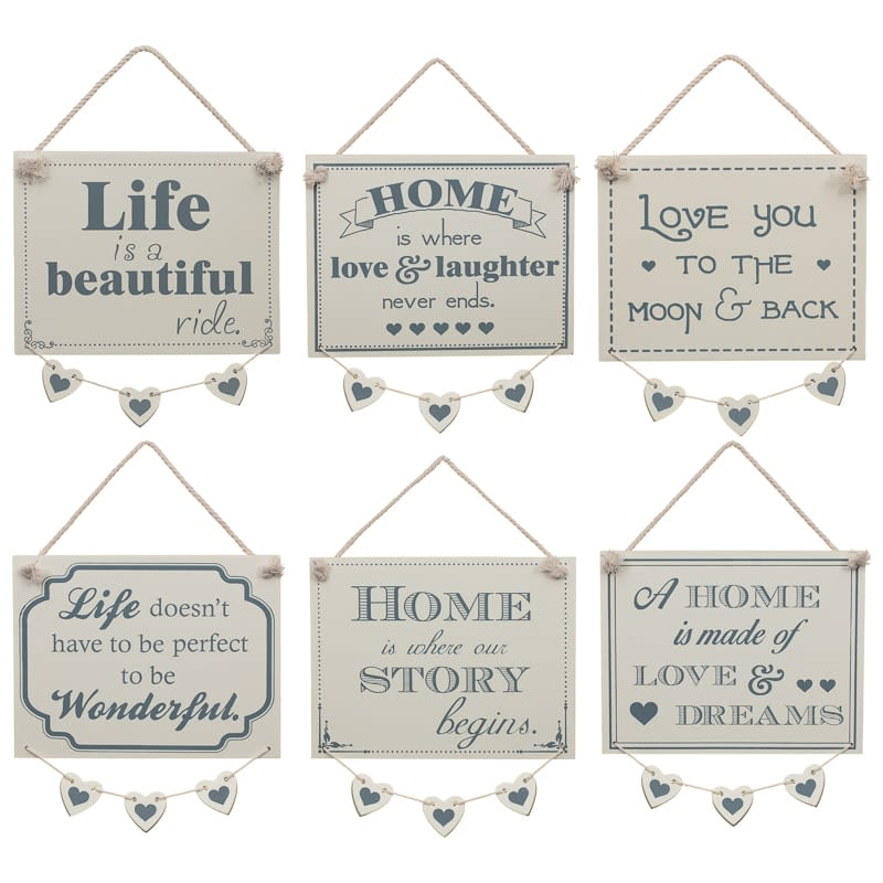 Hanging Hearts Plaque - To the Moon & Back