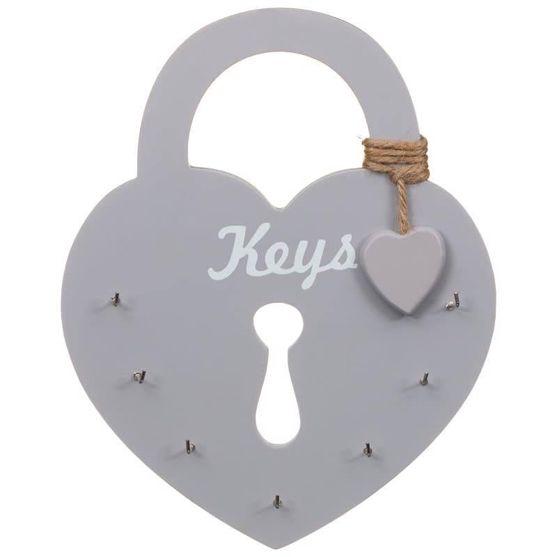 Heart Key Holder - Grey