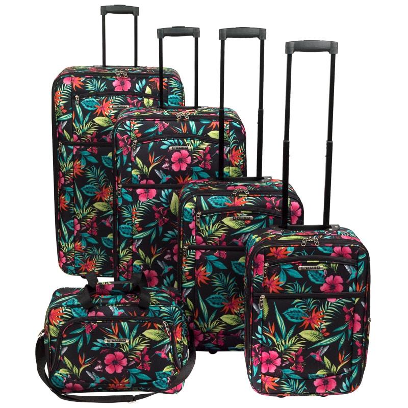 tropical floral suitcase 72cm luggage b m. Black Bedroom Furniture Sets. Home Design Ideas