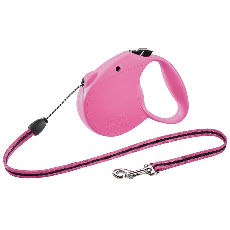 Flexi Dog Lead 5m - Small - Pink