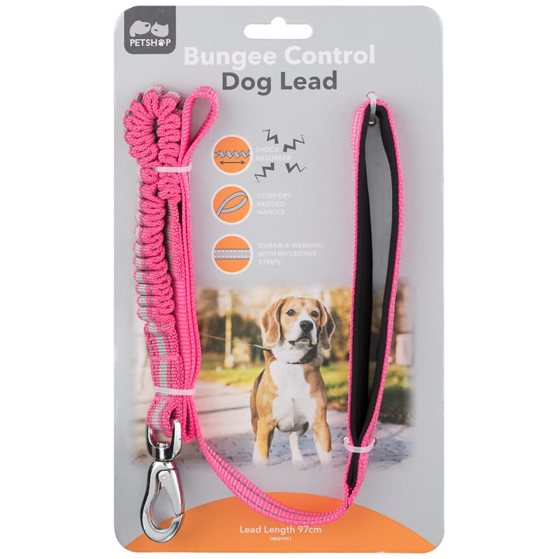 Bungee Control Lead - Pink