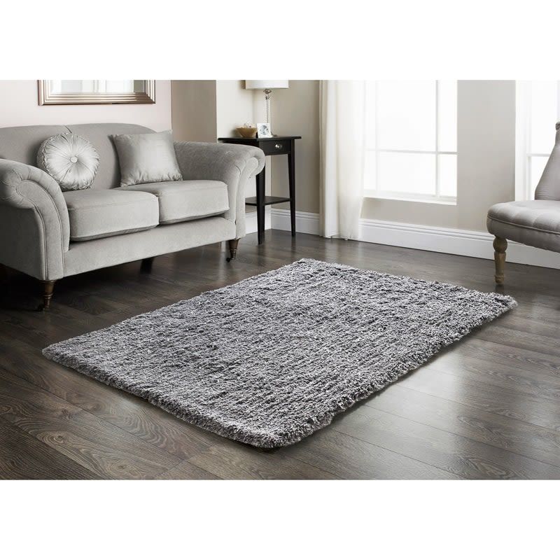 silver sparkle rug 110 x 160cm rugs b m. Black Bedroom Furniture Sets. Home Design Ideas