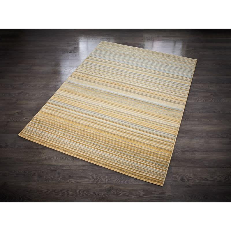 ochre ombre stripe rug 160 x 230cm rugs b m. Black Bedroom Furniture Sets. Home Design Ideas