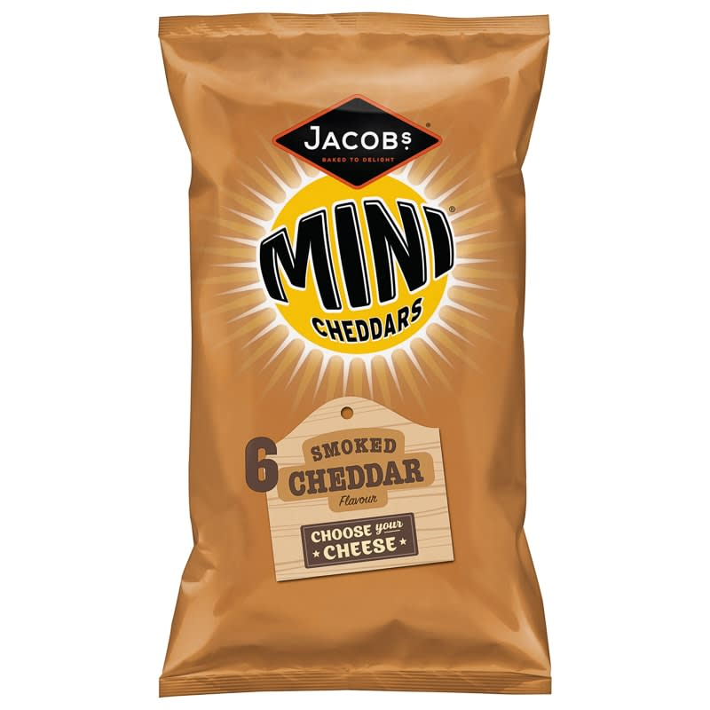 Jacob's Mini Cheddars Smoked Cheddar 6pk